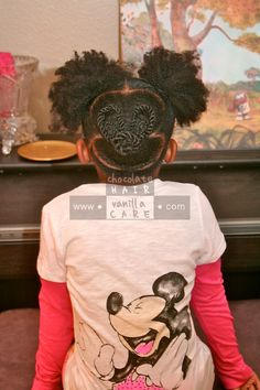 Simple Mickey Mouse Hairstyle #NaturalHair #Disney | Chocolate Hair / Vanilla Care