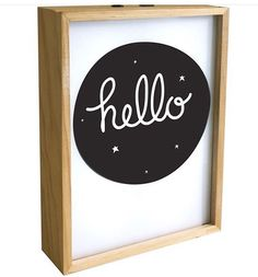'Hello' lovely poster lightbox! Available with free shipping until midnight. See previous post. #regram @alittlelovelycompany #lightbox #hello #roomdecor #home #kidsroom #nursery #nurserydecor #kidsroomdecor #coolkids by montyandmoosh