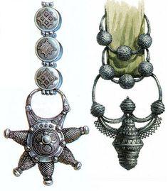 Ancient jewelry headwear of Russian women