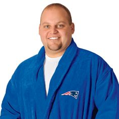 New England Patriots Royal Terrycloth Bathrobe