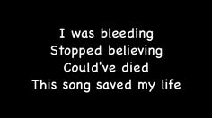 This Song Saved My Life - Simple Plan (Lyrics)  If you aren't a fan of Simple Plan I suggest you should listen to their music. They are perfect. This is one of my favorite songs. It reminds me of One Direction tbh.xx