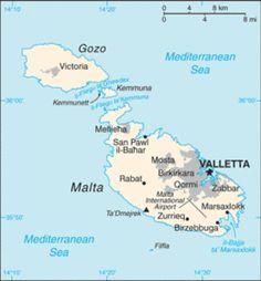 Malta - Mappa