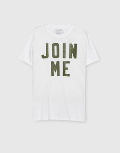 Pull&Bear - man - clothing - t-shirts - short-sleeve printed t-shirt - white - 09244536-I2016