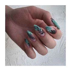 They could be more wonderful if incorporated with your creativity into the design.This post to show super cute Mint nail designs! If you like mint nails, click image to view more。 Mint Nails, Aycrlic Nails, Blue Nails, Hair And Nails, Mint Nail Art, Green Nail Art, Stylish Nails, Trendy Nails, Nail Swag