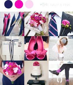 Pink & navy inspiration for a contemporary wedding with a preppy twist