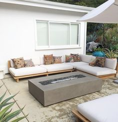 Outdoor bench with back