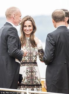 June 10, 2017 - after the honeymoon. Pippa cast a radiant smile as she mingled with Swedish high society