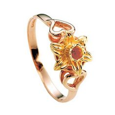 Heart and Daffodil Ring