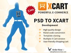 X CART is a power full #ecommerce shopping #cart platform which is written using PHP/MYSql languages and contains many inbuilt features. This technology provides quality shopping experience for users. Fast Conversion offers you the best PSD to #XCART integration services at affordable cost. The services provided by us are phenomenal as we own quality professionals who have years of experience in integrating such services.