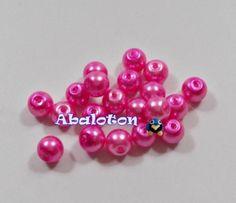 Perlas cristal lacado rosa 6mm