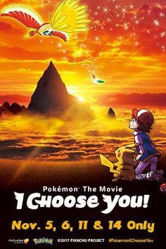 """Pokemon the Movie: I Choose You!"" coming to theaters worldwide in November Film Pokemon, Pokemon Movies, Pokemon 20, Streaming Hd, Streaming Movies, Hd Movies, Movies Online, Pikachu, Movie 20"