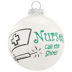 Nurses Call the Shots Glass Ornament - Bronner's Exclusive - Christmas Ornament - mobile - Bronner's CHRISTmas Wonderland