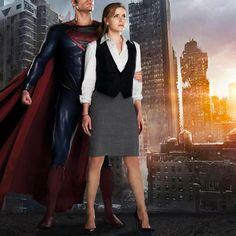 Lois Lane Costume - Man of Steel Lois Lane Costume, Black Waistcoat, Celebrity Costumes, Superman Movies, Superman Man Of Steel, Wool Trench Coat, Grey Pencil Skirt, Black Office, Light Blue Shirts