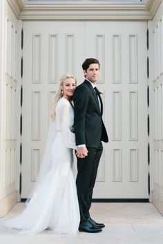 modest wedding dress with long bishop sleeves from alta moda. -- (modest bridal gown)