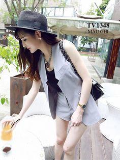 Gam màu ghi cao cấp thiết kế áo sát nách mang đến cho bạn phong cách thời trang nữ tính TV1348