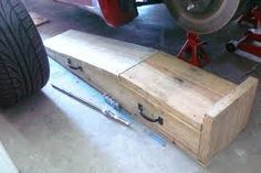 wood car ramp