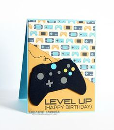 Creative Cardsea Level Up Cricut Birthday Cards Vido Games
