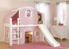 pink-cottage-bunk-bed-slide-tent