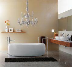 Il Bagno Alessi One bathroom, designed by Stefano Giovannoni. Faucets: Il Bagno Alessi One by Oras.