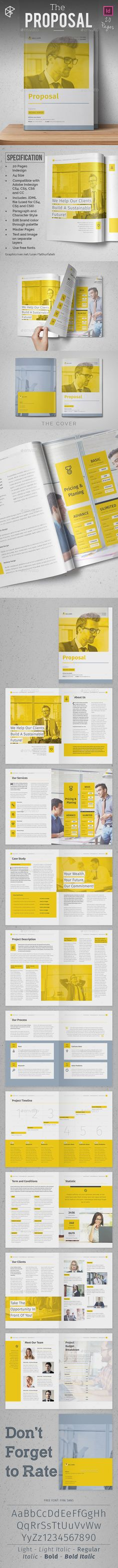 The Proposal Template InDesign INDD. Download here: http://graphicriver.net/item/the-proposal/16021151?ref=ksioks