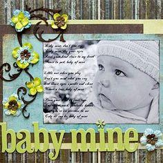 Scrapbooking bébé vert et marron