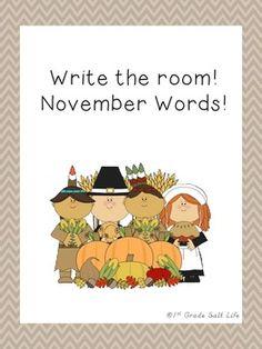 Write the Room! November Words!