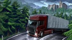 Filename: Euro Truck Simulator 2 game wallpaper Resolution: File size: 318 kB Uploaded: Celia Brook Date: Euro Truck Simulator 2, American Truck Simulator, 3d Animation Wallpaper, Wallpaper Backgrounds, Wallpaper Desktop, Truck Bed Camping, Pink Truck, Best Android Games, Chevy Girl