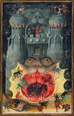 """Master of Catherine of Cleves (active ca. 1435-60), 'Mouth of Hell', from """"Book of Hours of Catherine of Cleves"""", 1440"""