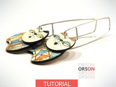 Orson's MEOW & PURRR cats earrings in polymer clay Original tutorial e-book step by step in English and French Funky Earrings, Clay Earrings, Fimo Clay, Polymer Clay Jewelry, Earring Tutorial, Clay Tutorials, Designer Earrings, Cat Lovers, Kitty