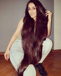 Image may contain: 1 person Long Black Hair, Very Long Hair, Dark Hair, Beautiful Long Hair, Gorgeous Hair, Long Indian Hair, Long Hair Models, Glossy Hair, Silky Hair