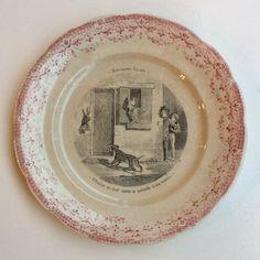 punareunainen lautanen . halkaisija 19.5 cm