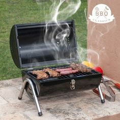 "Enjoy the most delightful barbecues with the unique and original cylindrical ""BBQ Classics"" coal barbecue.  It features double grill, handle, legs and a metallic lock.  You can use only one or both cooking surfaces at the same time.  This aluminium outdoor barbecue features instructions and mounting hardware.  #bbq #barbecue #shopping #onlineshopping #onlinestore #onlineshop"