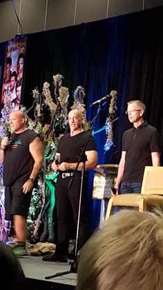 Clif & Mitch Kosterman with Jason Fischer at VanCon15 for the SPN Fandom documentary.