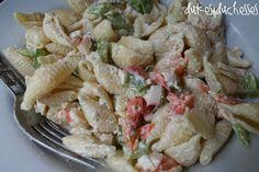 cold crab pasta salad