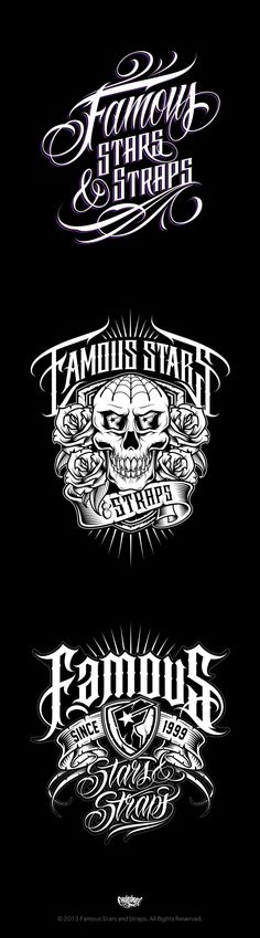 Famous Stars and Straps by GRAPHIC MANIAC, via Behance