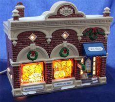 Department 56 Original Snow Village Vet and Pet Shop 5427-5 1992
