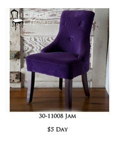 "Grape Jam is a beautiful child's Chair and if you need a more ""boy"" one, we have it in black leather too. Grape Jam, Chairs For Rent, Beautiful Children, Wingback Chair, Accent Chairs, Black Leather, Furniture, Home Decor, Upholstered Chairs"