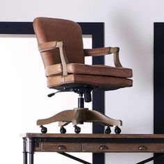 rustic office chair. Baedekar Aged Leather Desk Chair Rustic Office