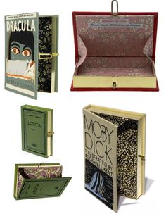 these are clutch purses you make out of your favorite book covers.