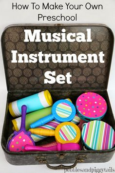 Pebbles & Piggytails: Dollar Store DIY Musical Instrument Set