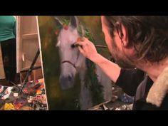 """Видеоурок Сахарова """"Как научиться рисовать лошадь"""" живопись для начинающих, уроки рисования - YouTube"""