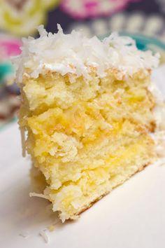 Sugar & Spice by Celeste: Lemon-Coconut Cake...Oh, Baby! (also includes recipe for homemade lemon curd)
