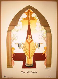 """The Seven Sacraments"" Vintage Prints – J. Gouppy, Belgium - Holy Orders  Google Search"