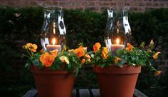 These Terracotta Candle Planters are just gorgeous and very easy to recreate. Make them today!