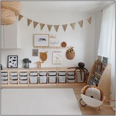 Ooh Noo Spielzeug Schubkarre - kids room Pin by Tina Schaadt on Kinderzimmer in 2020 Playroom Organization, Playroom Decor, Baby Room Decor, Ikea Kids Playroom, Playroom Ideas, Room Baby, Playroom Design, Organization Ideas, Playroom Layout