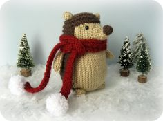 Free knitting pattern: Hedgehog Amigurumi Pattern