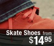 Skate shoes from $14.95