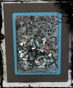 Album x mit kombinierter Bindung (Ribbon-Stick) und Mixed-Media-Cover Ribbon Sticks, Album, Mixed Media, Cover, Crafts, Decor, Decorating, Manualidades, Slipcovers