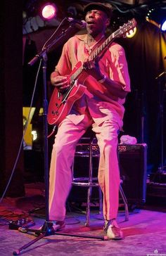 Walter Wolfman Washington- New Orleans singer and guitarist. (photo from flickr, courtesy of Groovescapes)