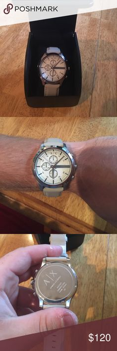 Armani exchange men's watch Brand new unworn Armani exchange watch. Never worn except on the day I got it to try on. Taking offers. A/X Armani Exchange Accessories Watches